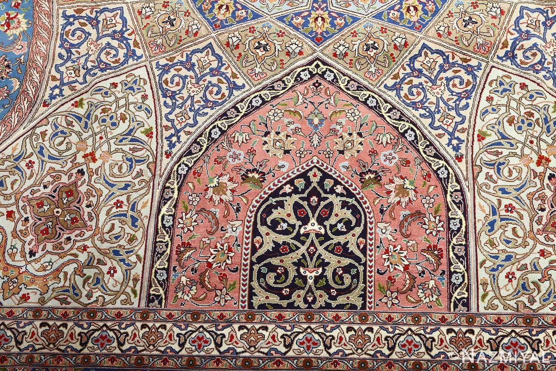 vintage gonbad design tabriz persian rug 51083 pattern Nazmiyal