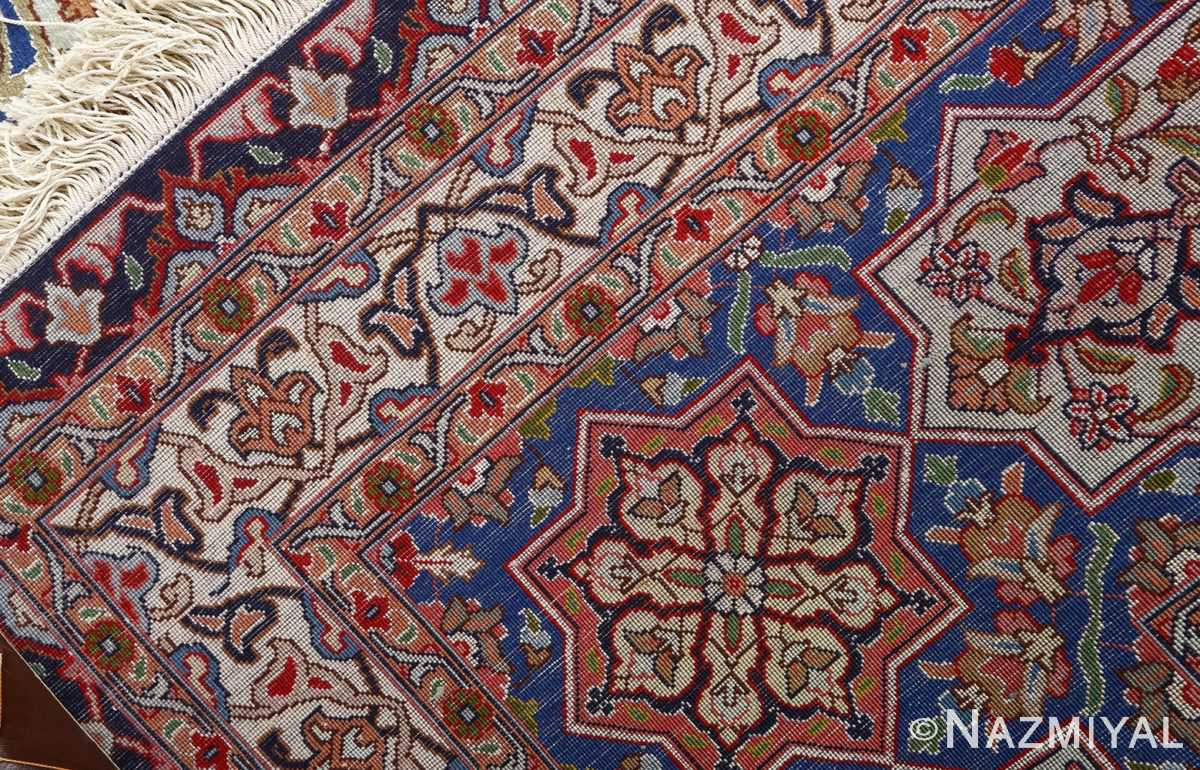 vintage gonbad design tabriz persian rug 51083 weave Nazmiyal