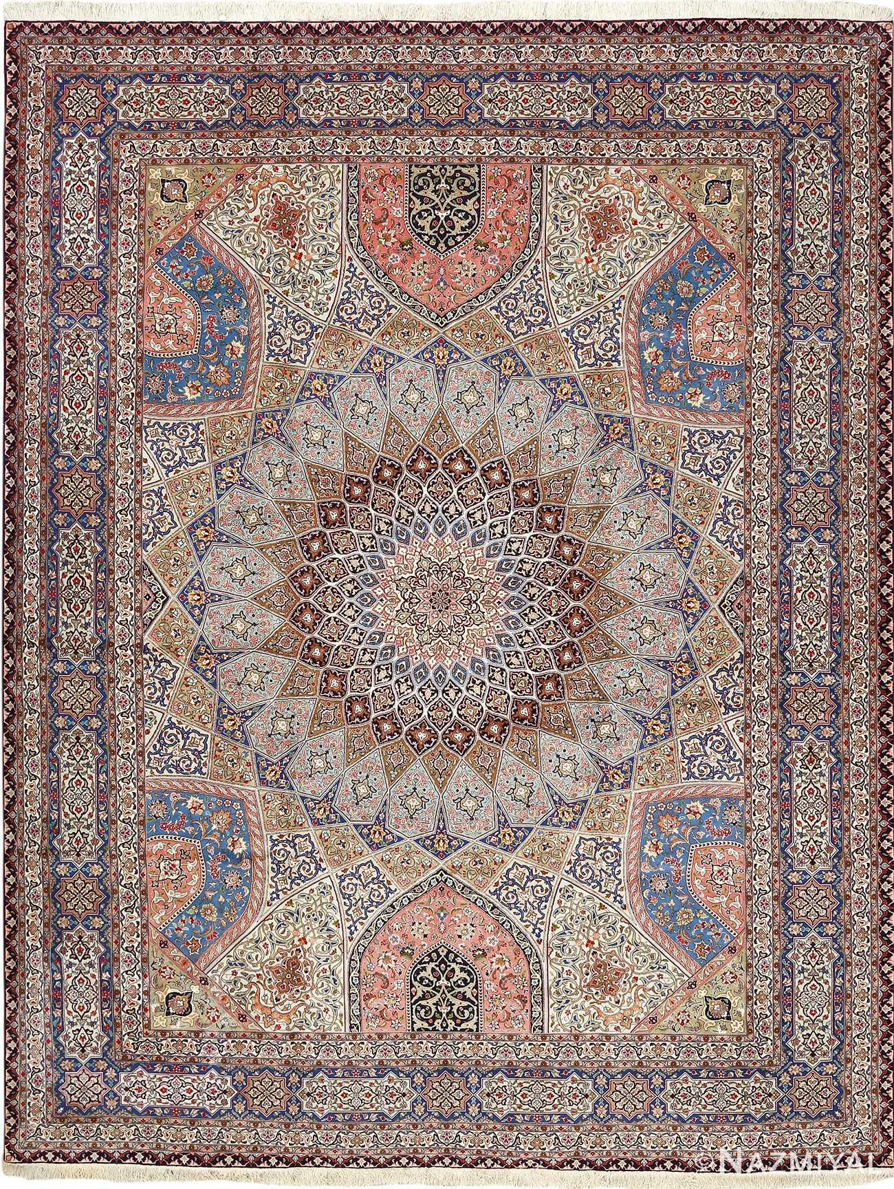 vintage gonbad design tabriz persian rug 51083 Nazmiyal