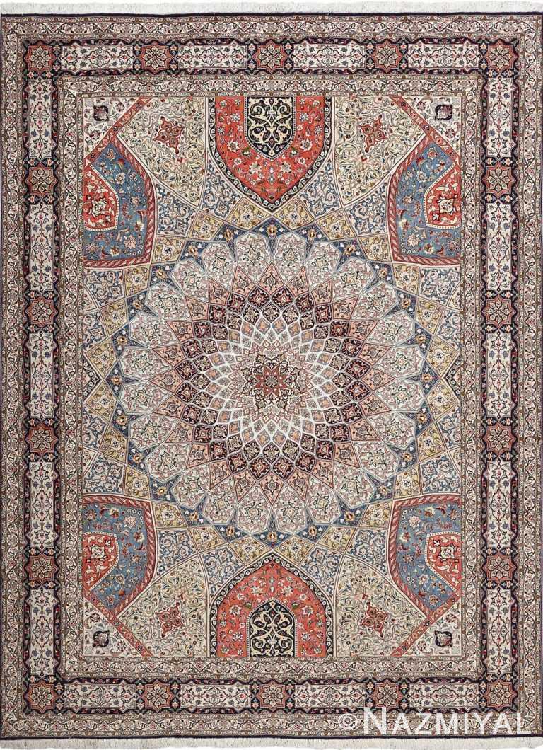 vintage gonbad design tabriz persian rug 51085 Nazmiyal
