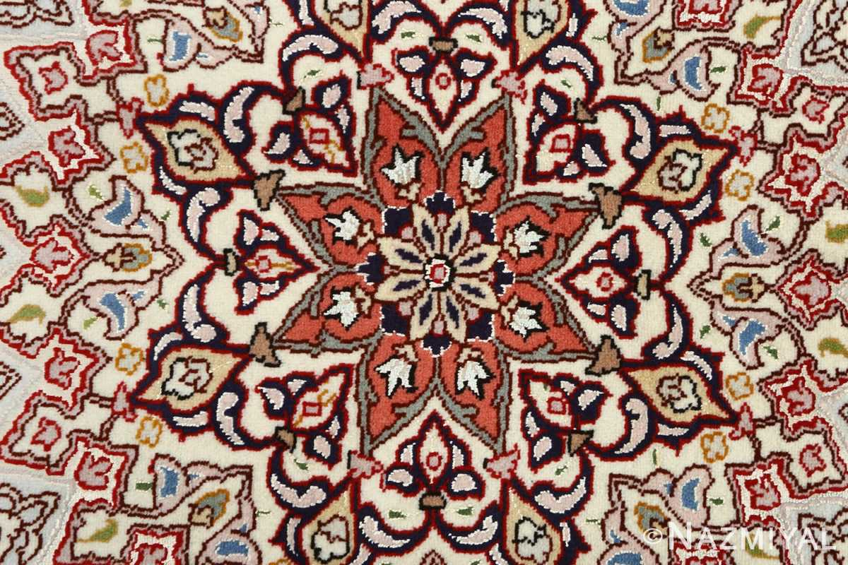 vintage gonbad design tabriz persian rug 51085 center Nazmiyal