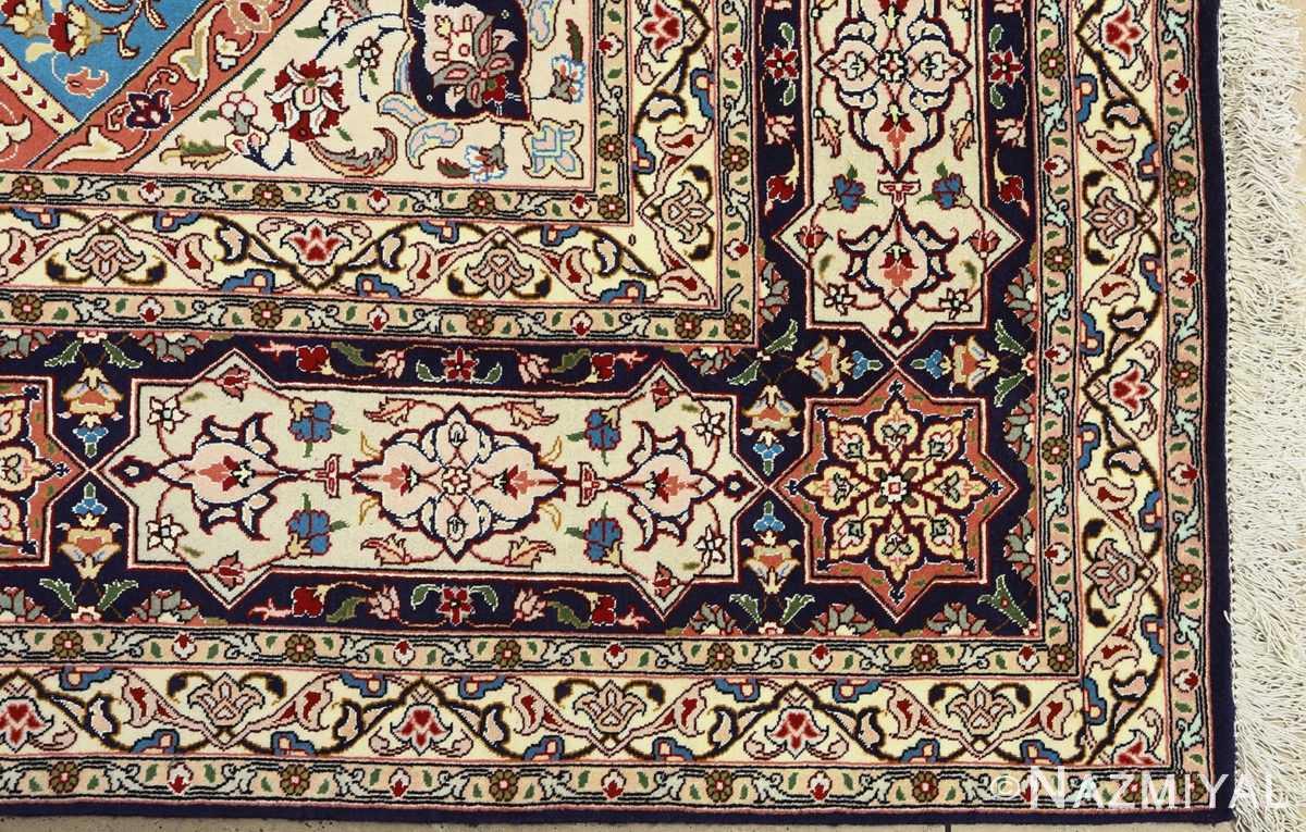 vintage gonbad design tabriz persian rug 51085 corner Nazmiyal