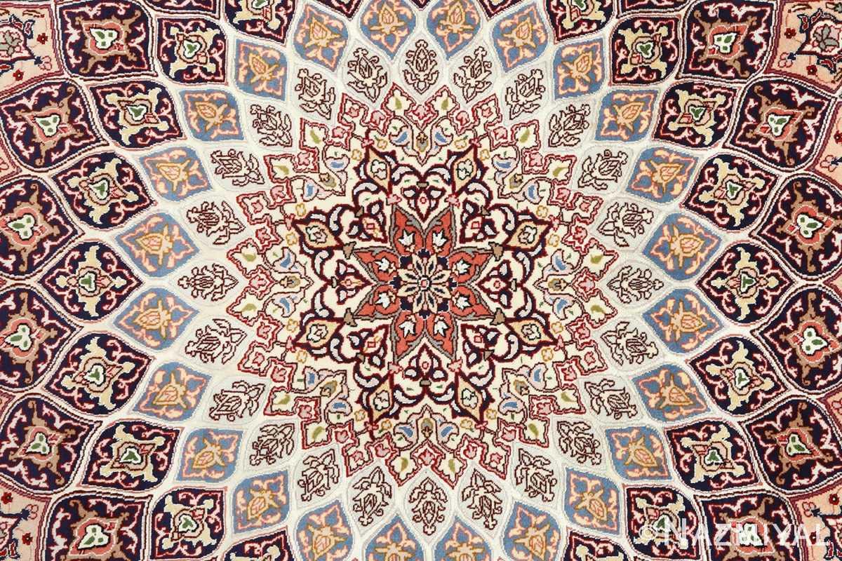 vintage gonbad design tabriz persian rug 51085 middle Nazmiyal