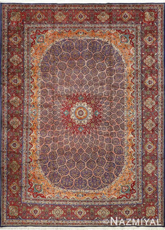 vintage gonbad design tabriz persian rug 51088 Nazmiyal