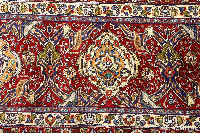 vintage gonbad design tabriz persian rug 51088 border Nazmiyal