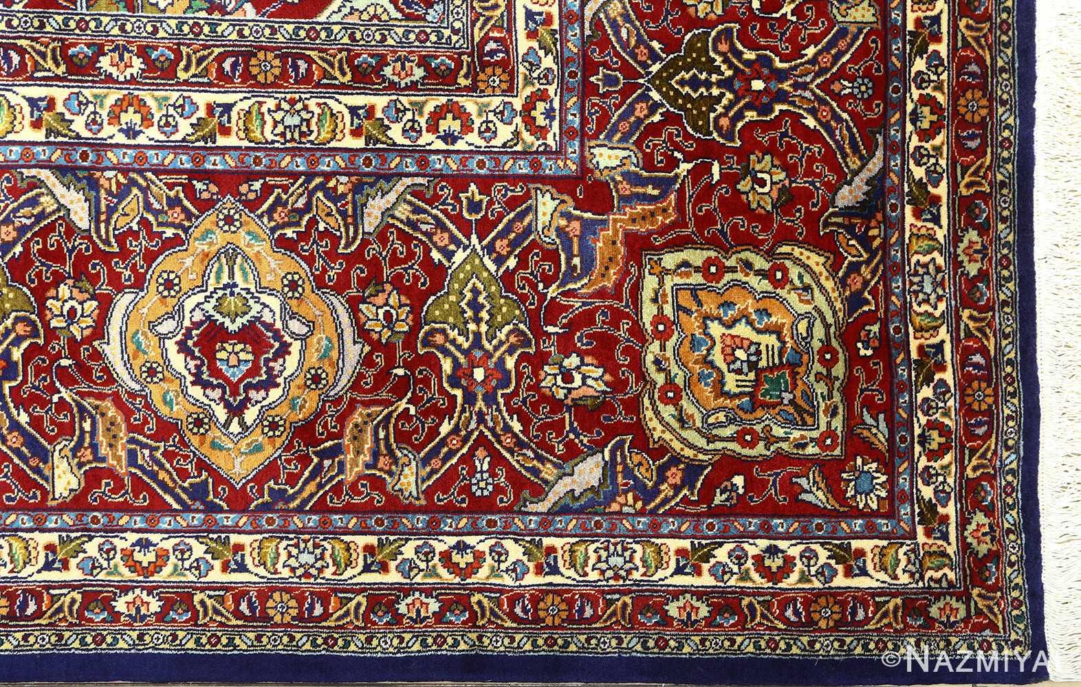 vintage gonbad design tabriz persian rug 51088 corner Nazmiyal