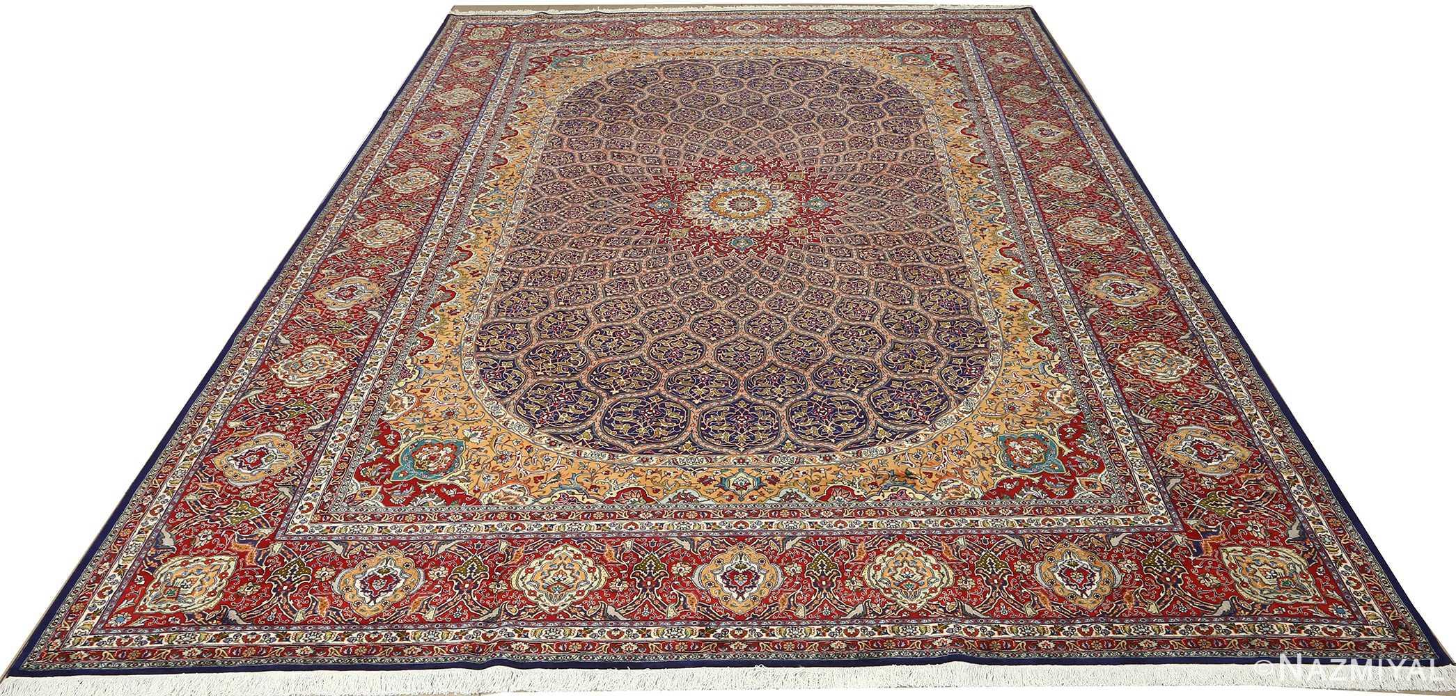 vintage gonbad design tabriz persian rug 51088 full Nazmiyal