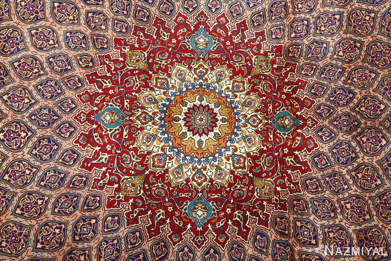 vintage gonbad design tabriz persian rug 51088 medallion Nazmiyal