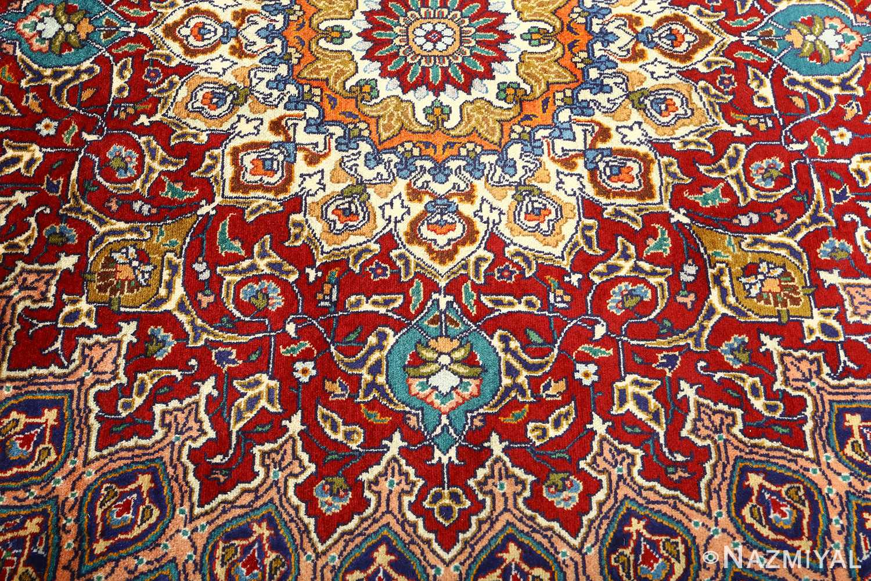 vintage gonbad design tabriz persian rug 51088 pattern Nazmiyal