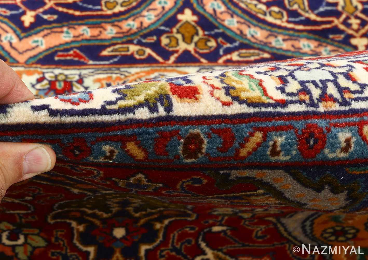 vintage gonbad design tabriz persian rug 51088 pile Nazmiyal