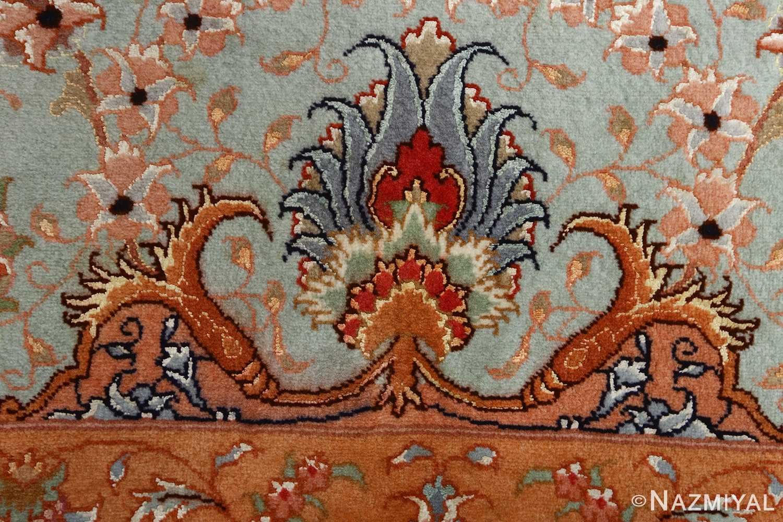 vintage ivory tabriz persian rug 51082 design Nazmiyal