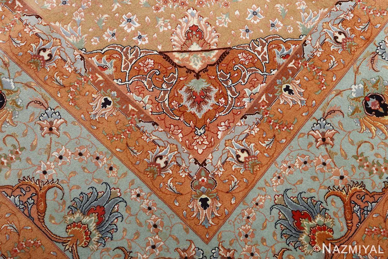 vintage ivory tabriz persian rug 51082 pattern Nazmiyal