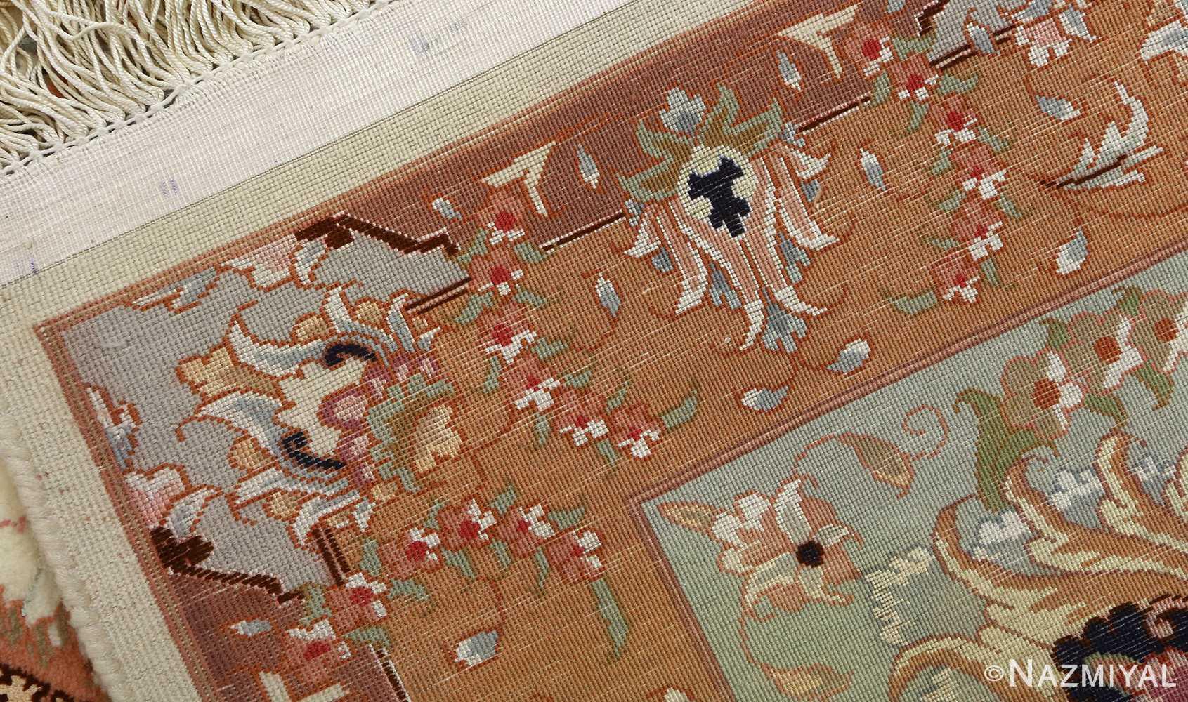 vintage ivory tabriz persian rug 51082 weave Nazmiyal
