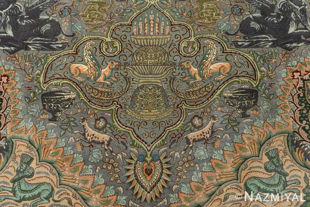 vintage pictorial tabriz persian rug 51105 candle Nazmiyal