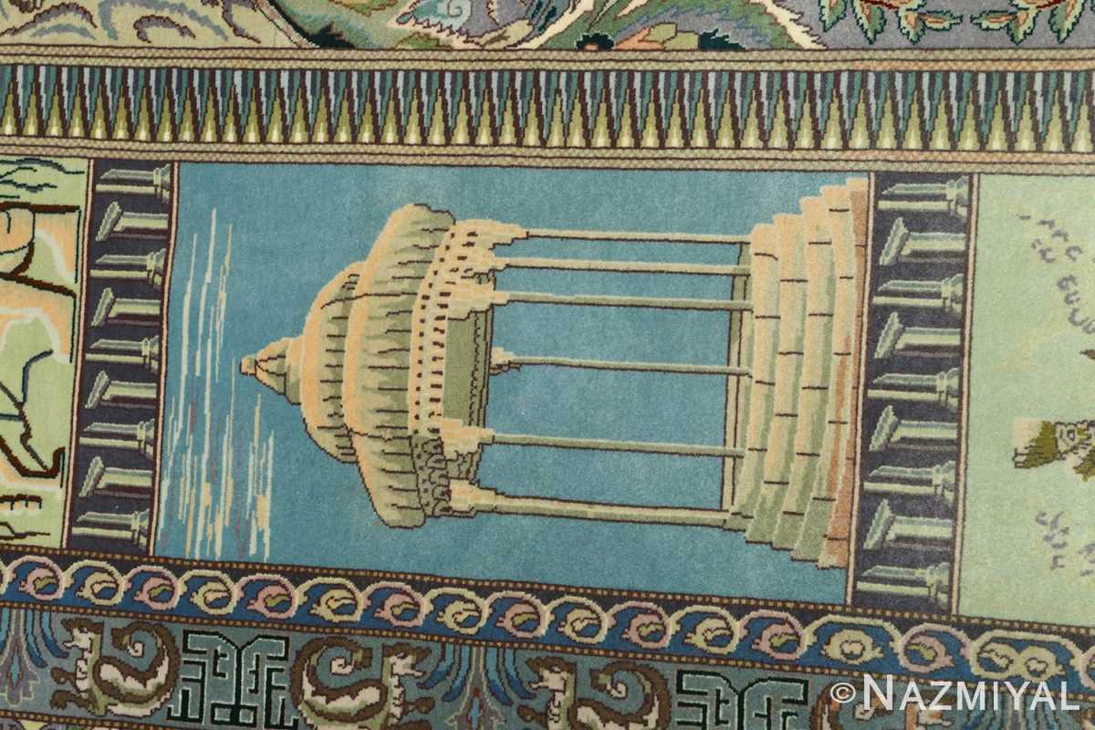 vintage pictorial tabriz persian rug 51105 hafez Nazmiyal