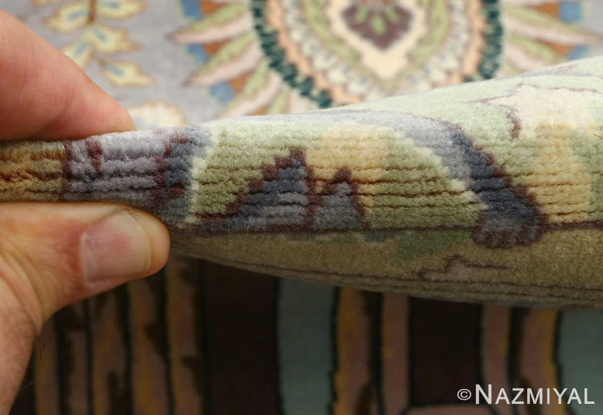 vintage pictorial tabriz persian rug 51105 pile Nazmiyal