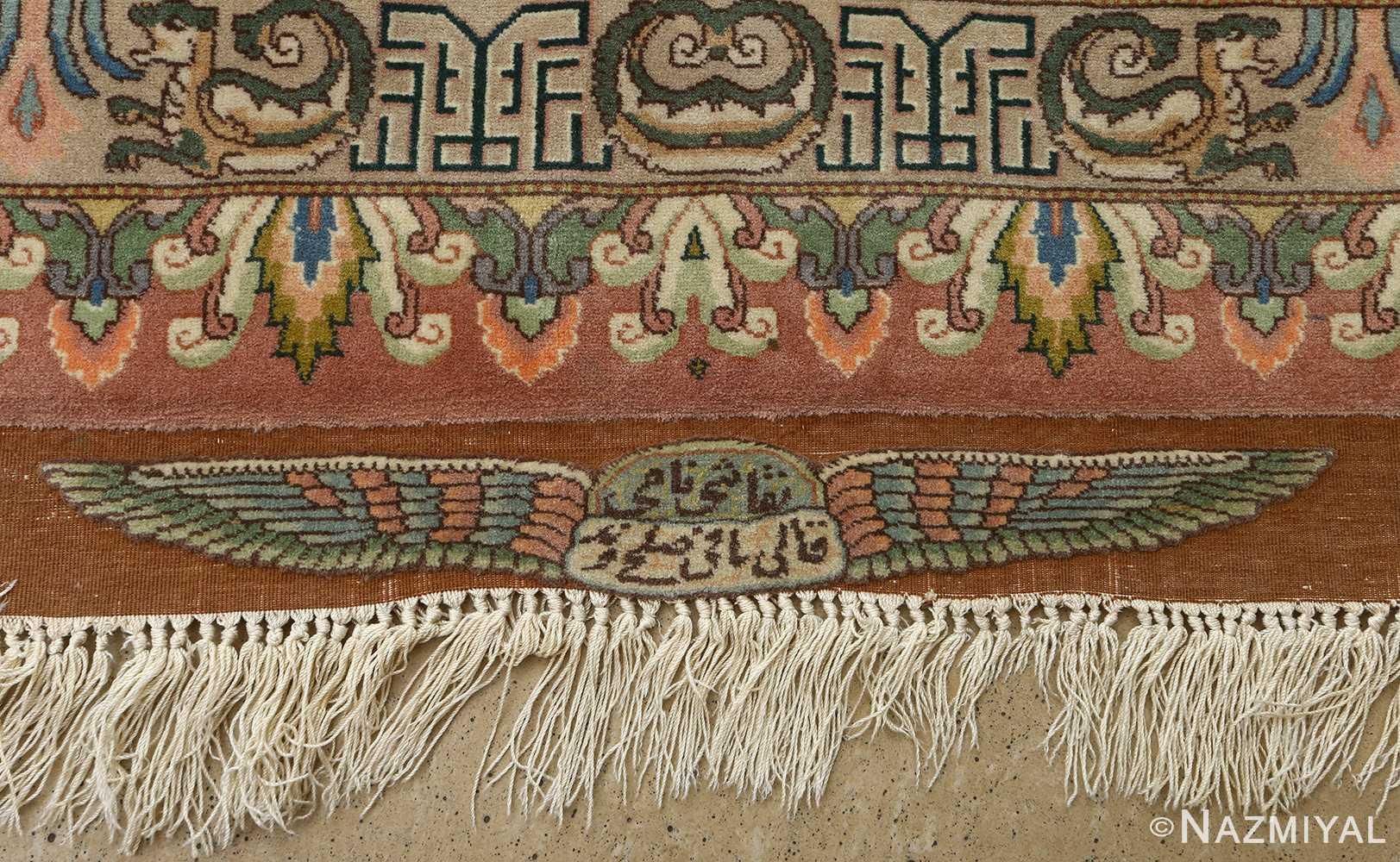 Beautiful Pictorial Vintage Tabriz Persian Rug 51105 By