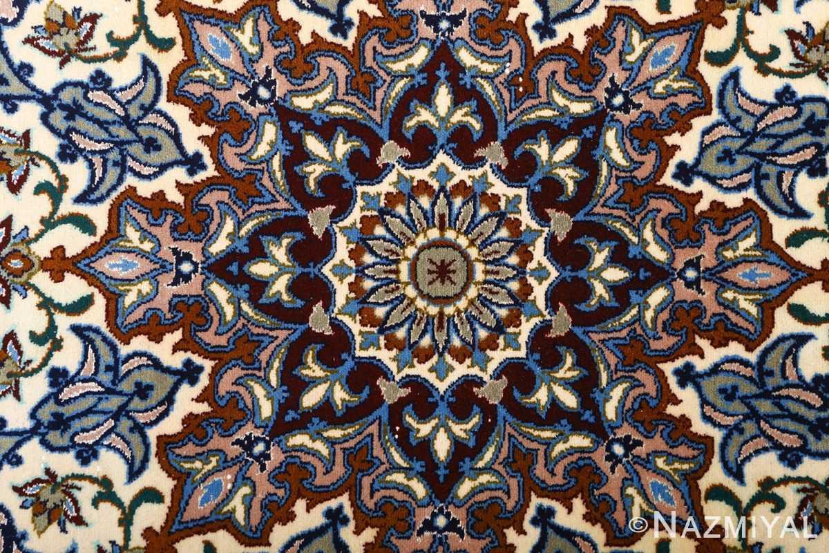 vintage red background isfahan persian rug 51090 center Nazmiyal