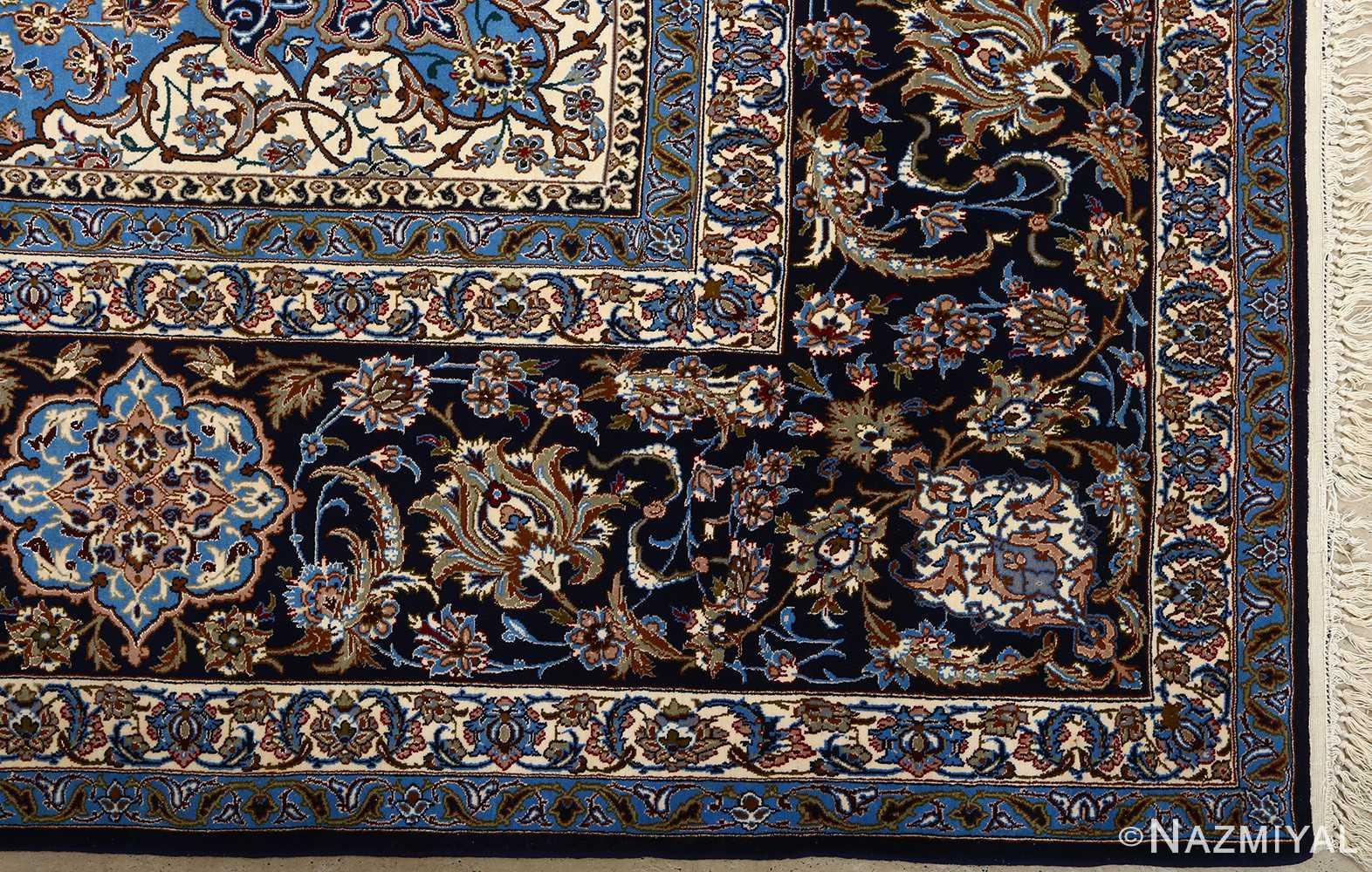 vintage red background isfahan persian rug 51090 corner Nazmiyal
