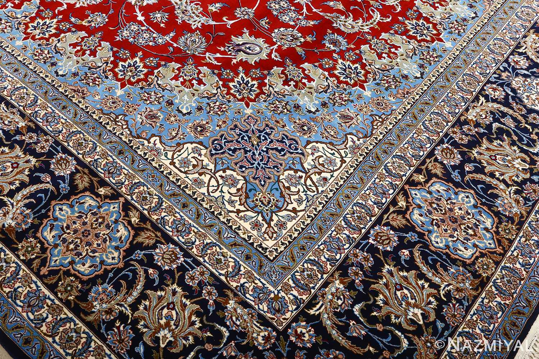 vintage red background isfahan persian rug 51090 design Nazmiyal