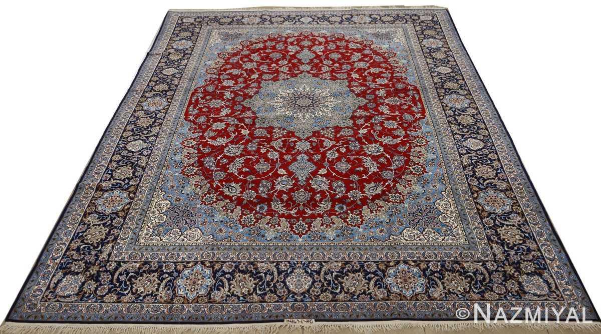 vintage red background isfahan persian rug 51090 full Nazmiyal
