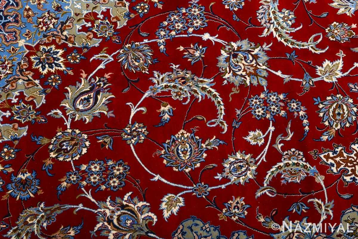 vintage red background isfahan persian rug 51090 slimis Nazmiyal