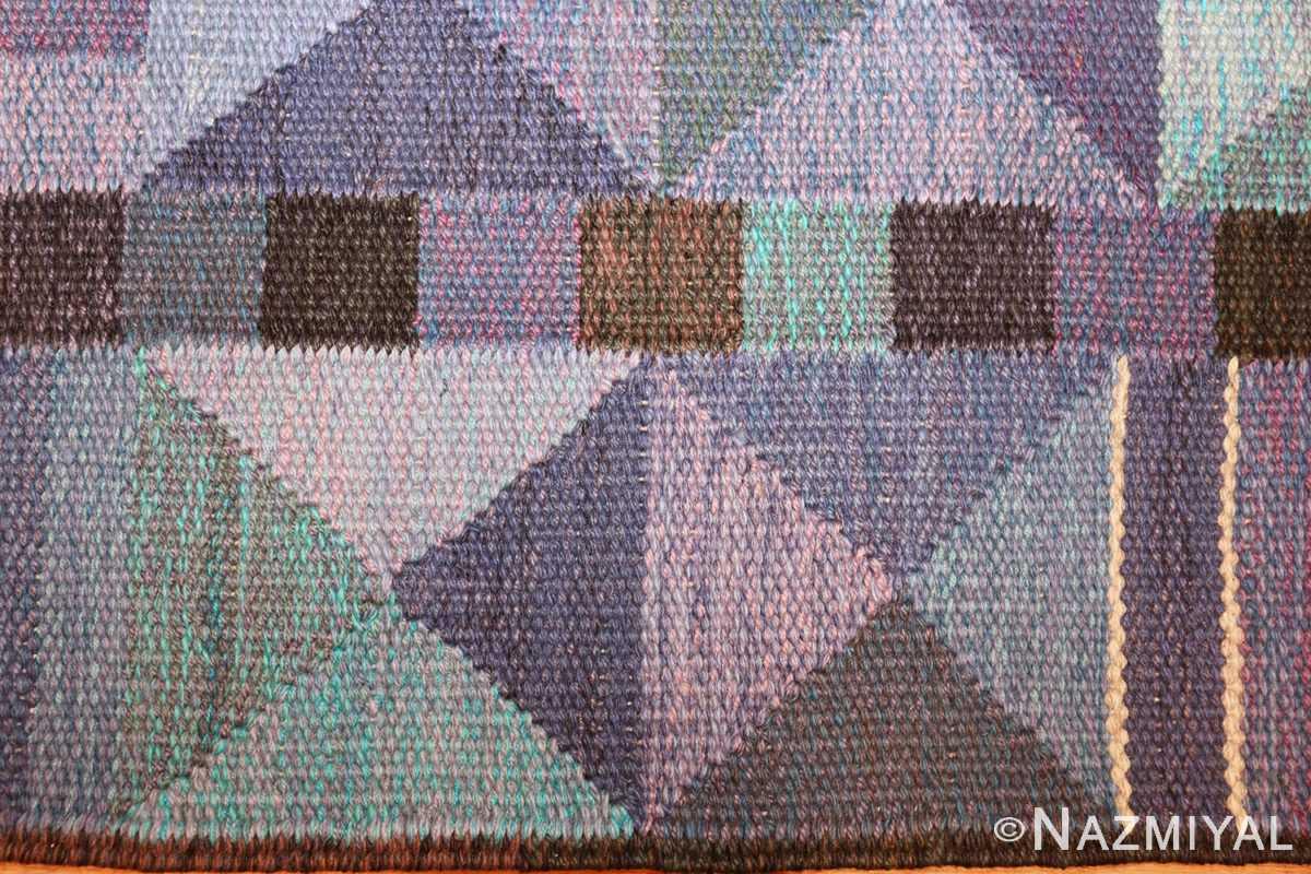 vintage scandinavian swedish kilim by marta maas 49269 border Nazmiyal
