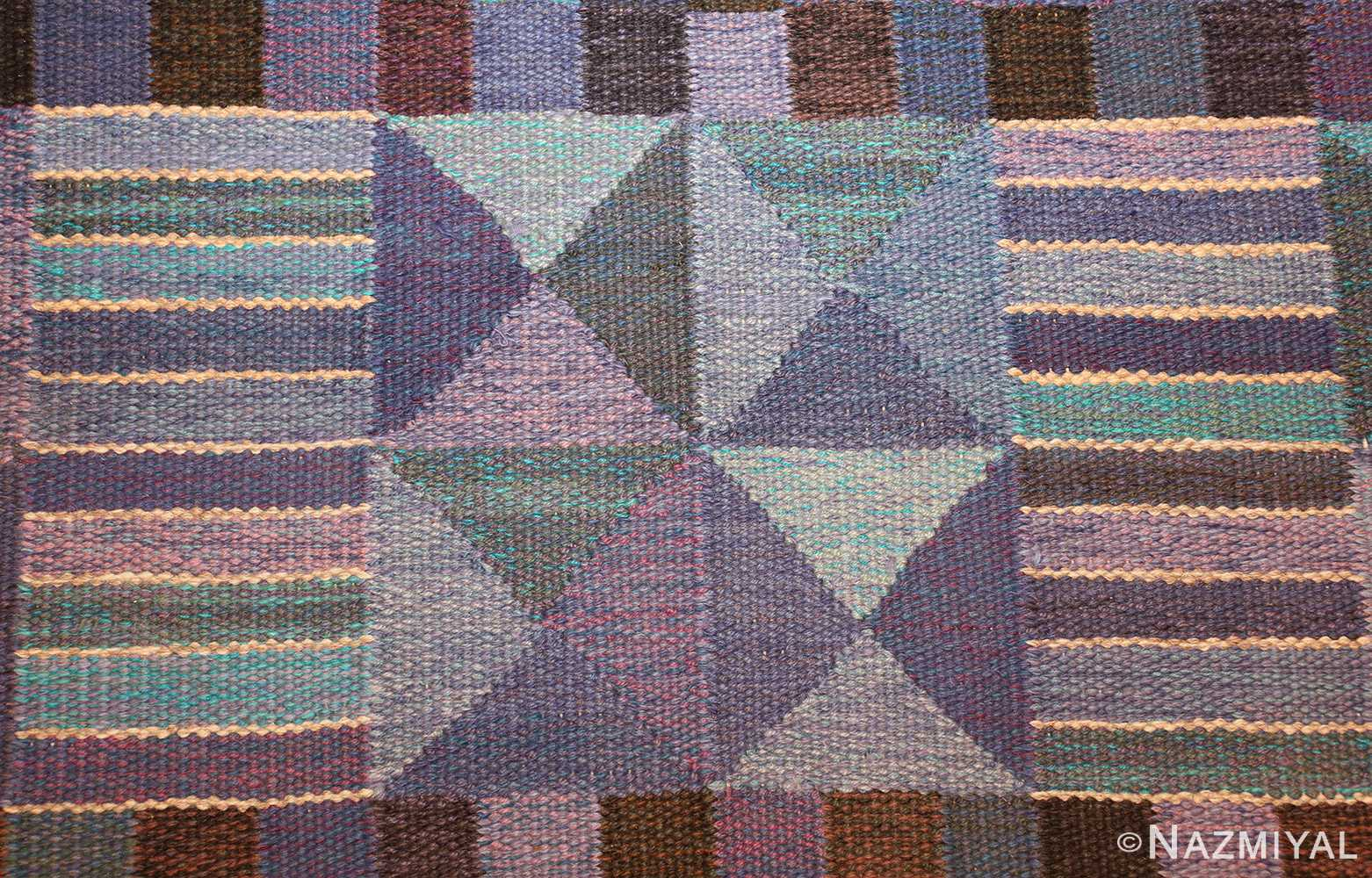 vintage scandinavian swedish kilim by marta maas 49269 colors Nazmiyal