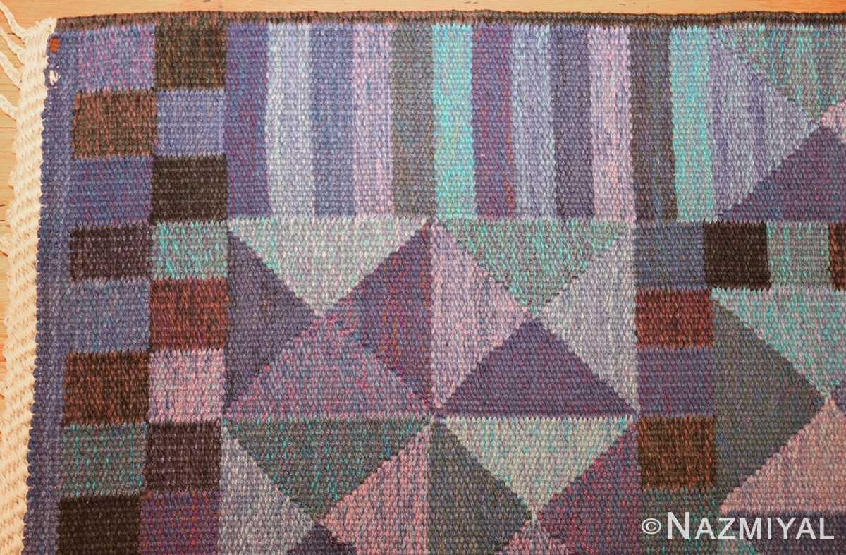 vintage scandinavian swedish kilim by marta maas 49269 corner Nazmiyal
