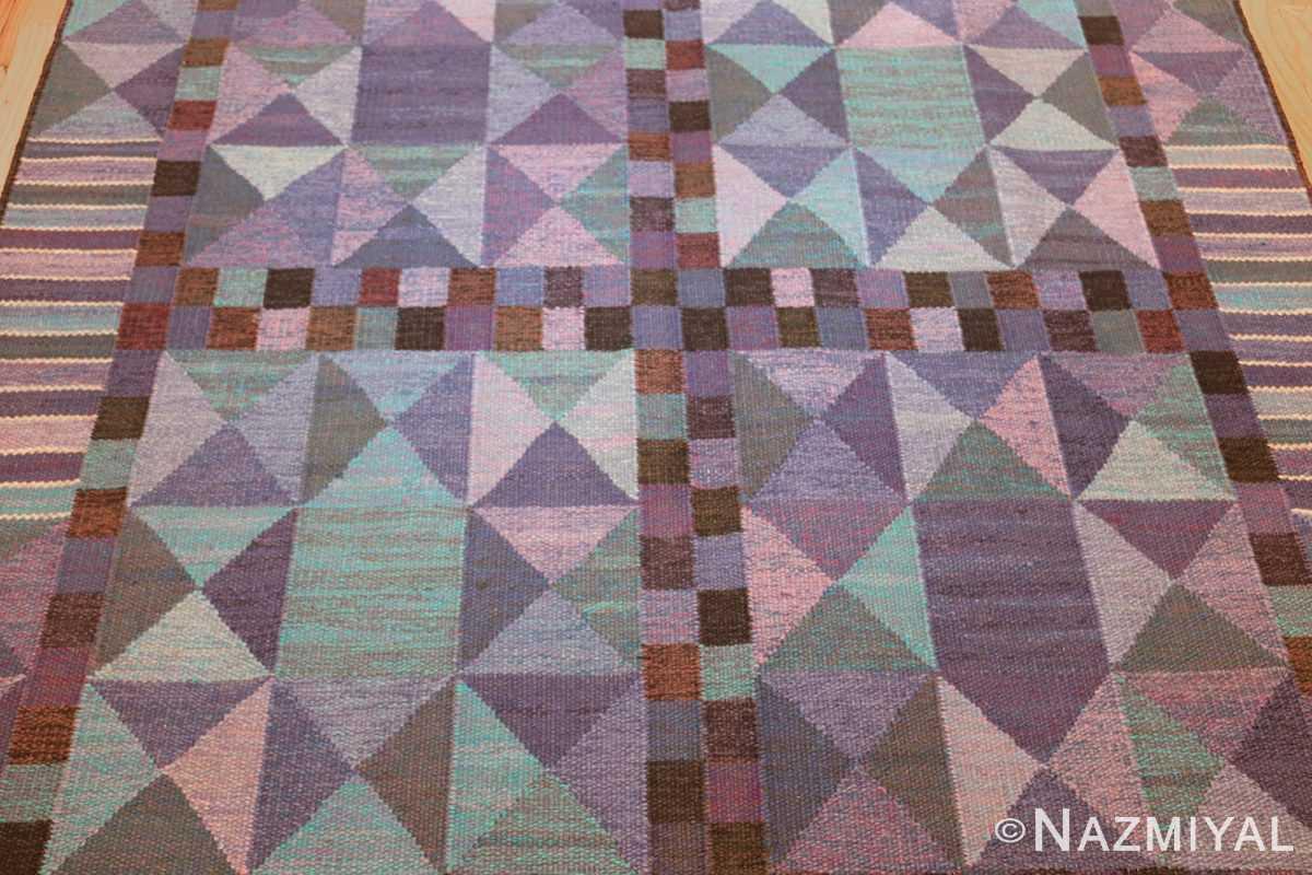 vintage scandinavian swedish kilim by marta maas 49269 field Nazmiyal