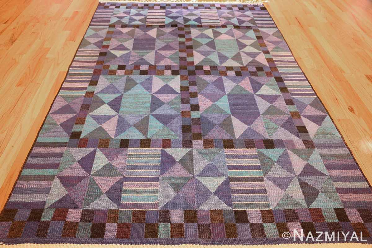 vintage scandinavian swedish kilim by marta maas 49269 full Nazmiyal