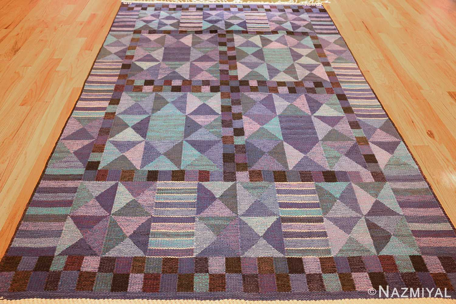 vintage scandinavian swedish kilim by marta maas 49269 full Nazmiyal