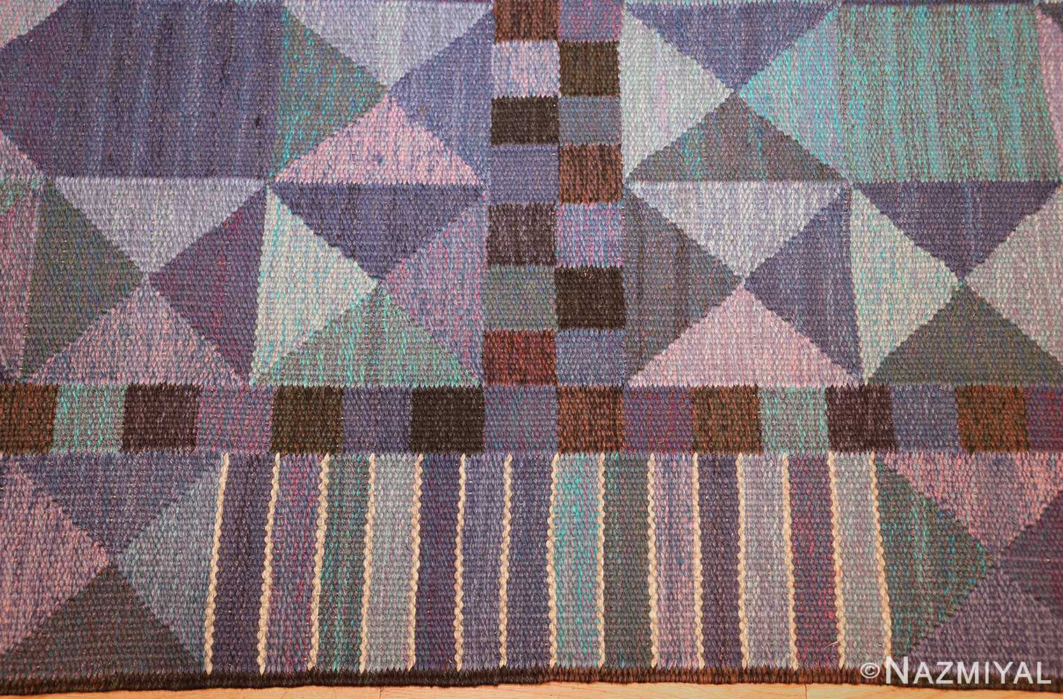 vintage scandinavian swedish kilim by marta maas 49269 pattern Nazmiyal