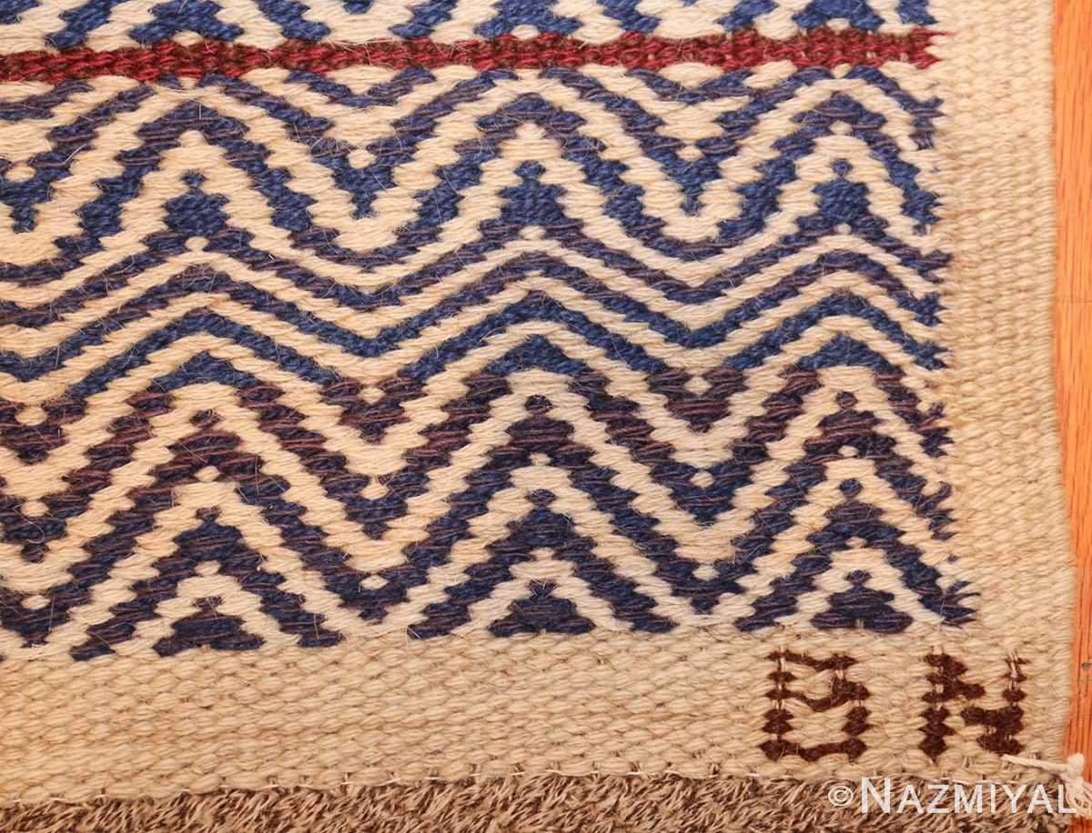 vintage scandivanian Swedish kilim rug by marta maas fjetterstrom 49128 sign Nazmiyal