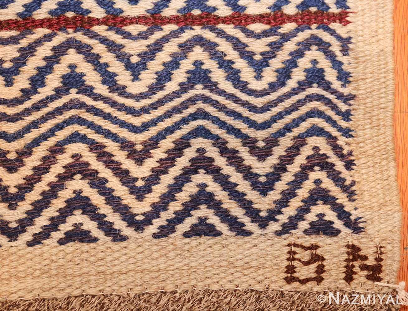 vintage scandivanian Swedish kilim rug by marta maas fjetterstrom 49128 sign Nazmiyal