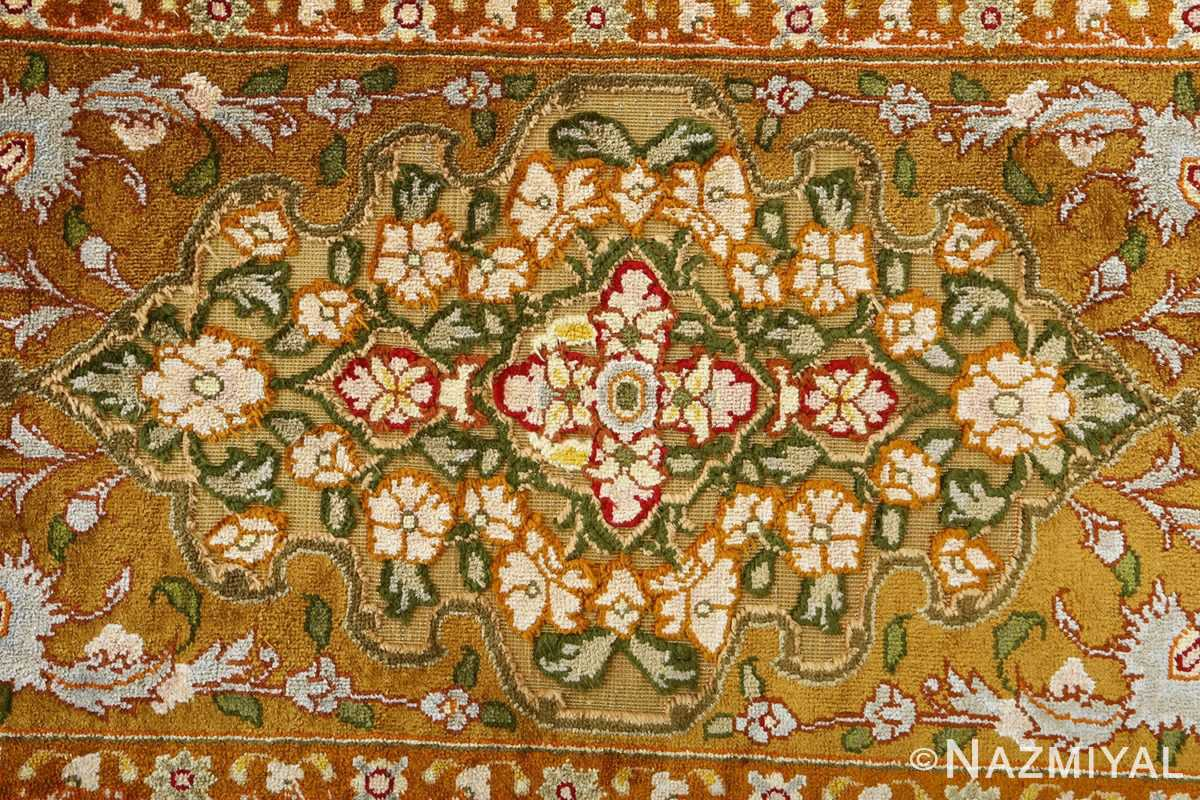 vintage silk and metallic threading souf tabriz persian rug 51112 light Nazmiyal