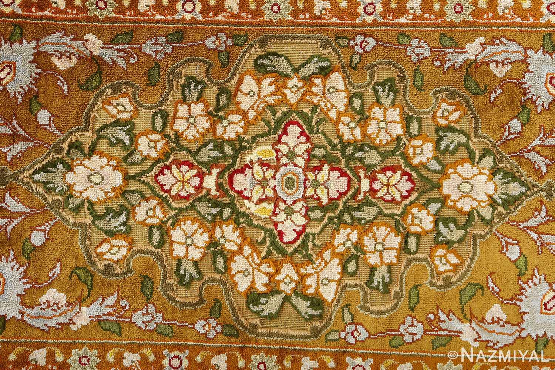 vintage silk and metallic threading souf tabriz persian rug 51112 light Nazmiyal