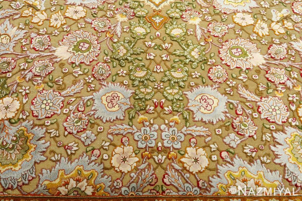 vintage silk and metallic threading souf tabriz persian rug 51112 souf Nazmiyal