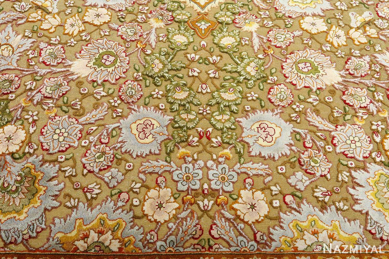 vintage silk and metallic threading souf tabriz persian rug 51112 souf Nazmiyal
