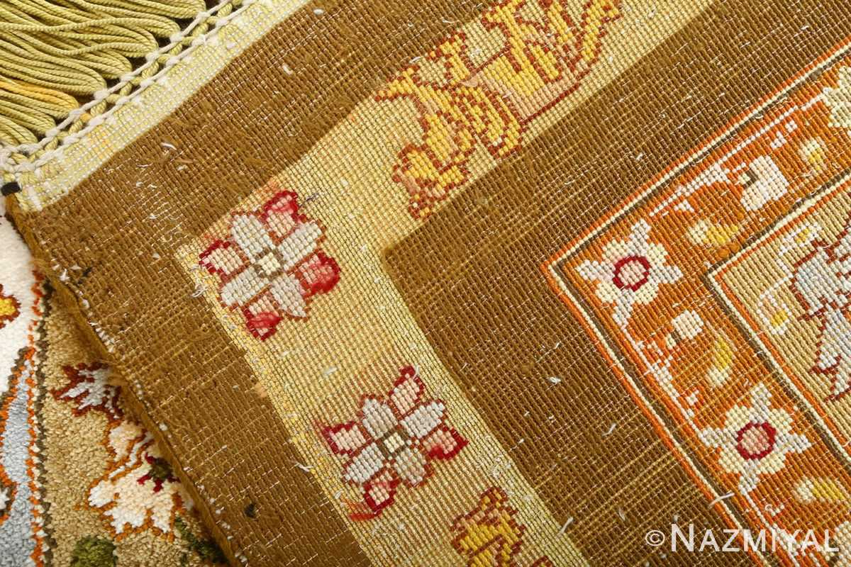 vintage silk and metallic threading souf tabriz persian rug 51112 weave Nazmiyal