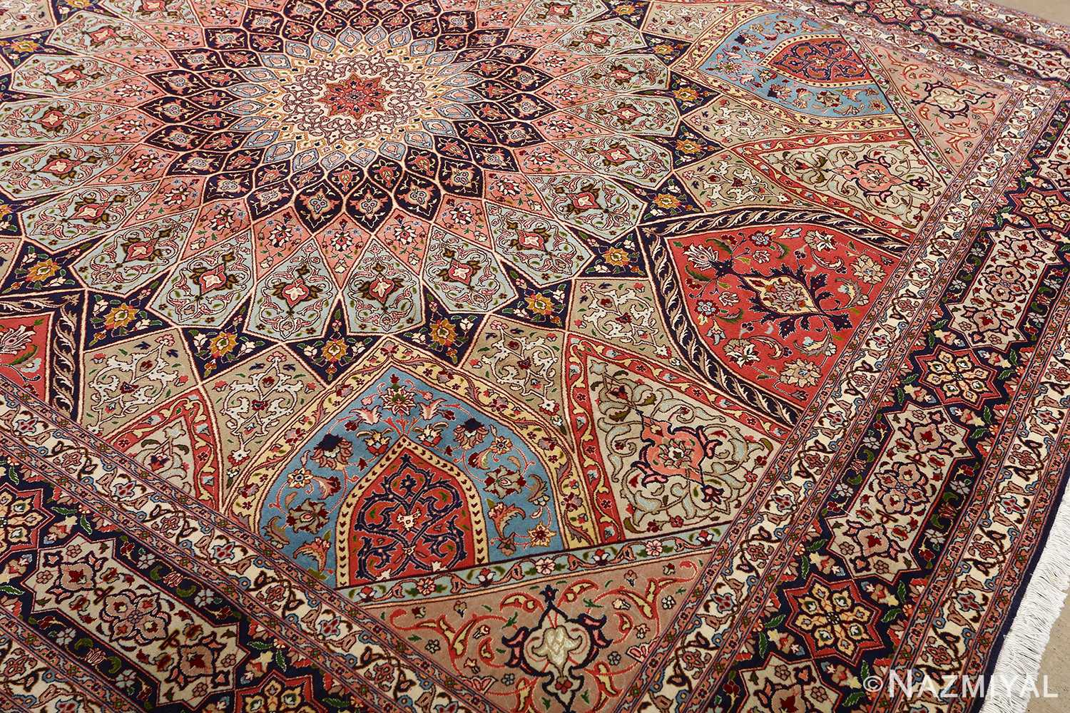 Beautiful Vintage Tabriz Persian Rug 51116 By Nazmiyal