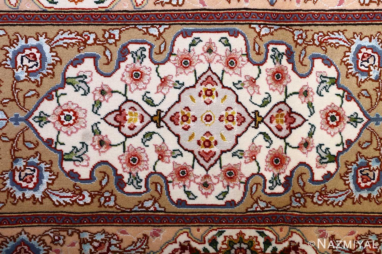 vintage taupe background tabriz persian rug 51108 border Nazmiyal