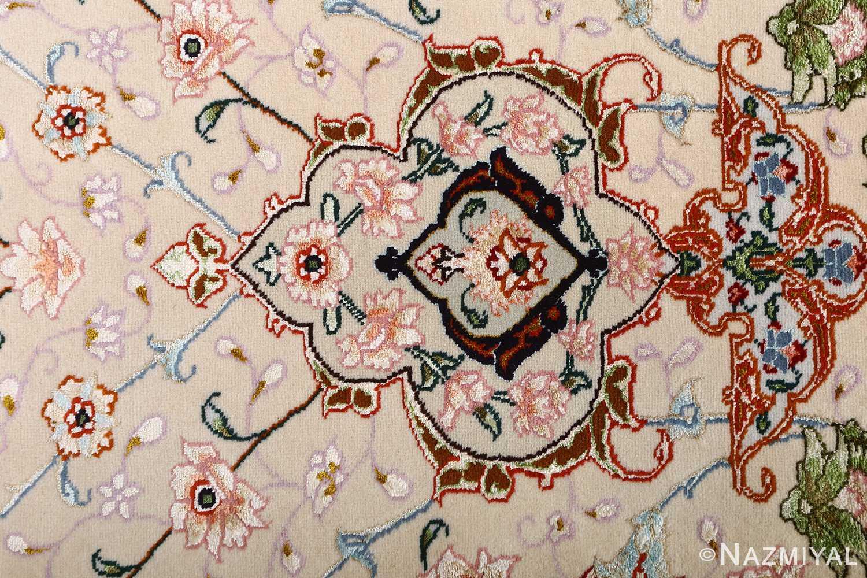 vintage taupe background tabriz persian rug 51108 fine Nazmiyal
