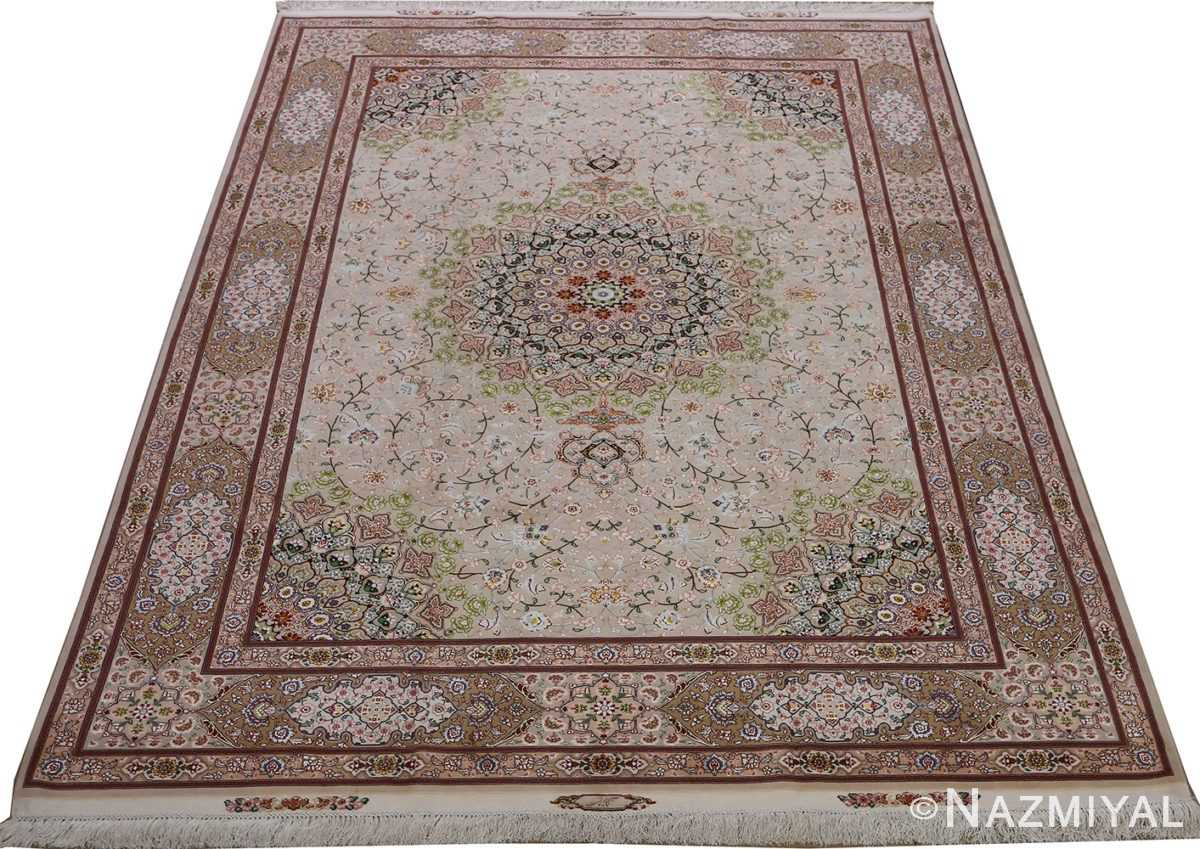 vintage taupe background tabriz persian rug 51108 full Nazmiyal