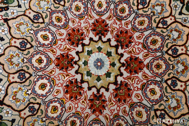 vintage taupe background tabriz persian rug 51108 middle Nazmiyal
