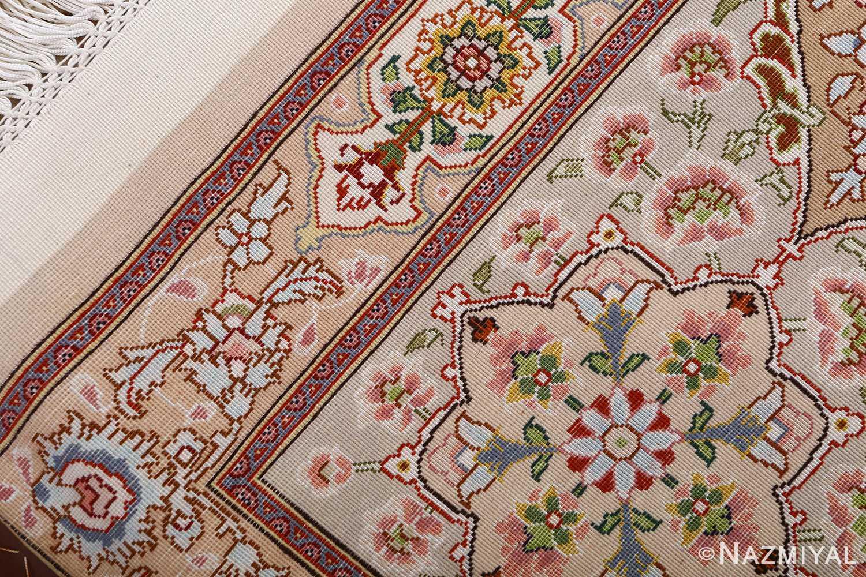 vintage taupe background tabriz persian rug 51108 weave Nazmiyal