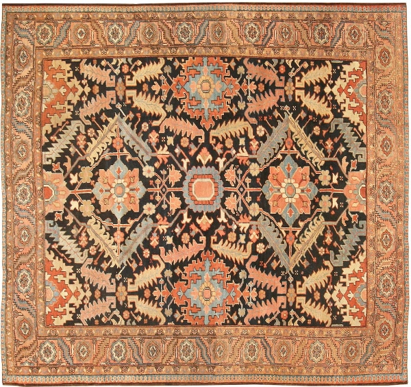 Antique Serapi Carpet by nazmiyal