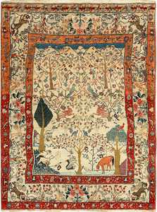 antique animal motif tehran persian rug 49303 Nazmiyal