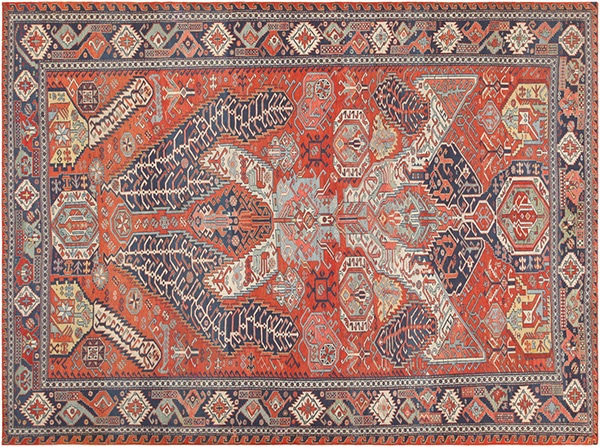 Antique Flatwoven Caucasian Soumak kilim Rug by Nazmiyal