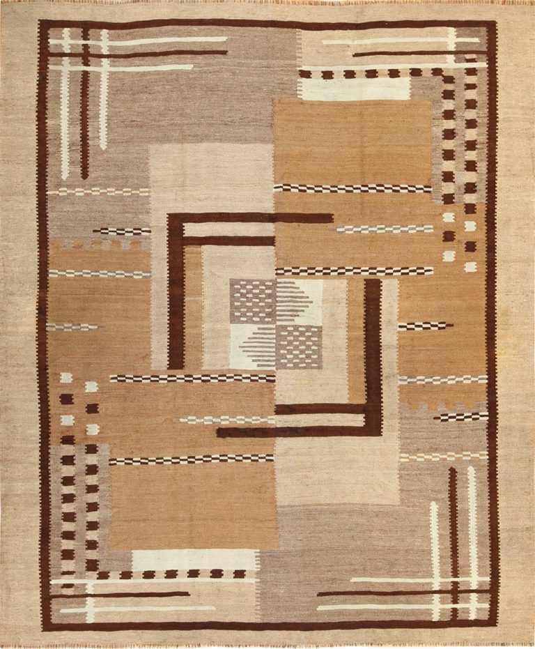 antique french art deco kilim rug 49256 nazmiyal